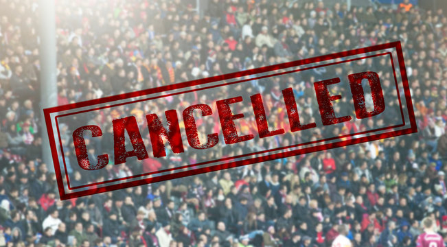 Sport event cancelled because of Coronavirus outbreak
