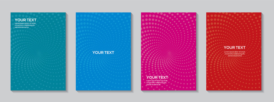 Radial semicircle geometric dots patterns Background template