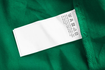 Wall Mural - Care clothes label