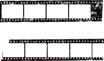 Wall Mural - frames of film,empty  photo film frames,filmstrips with free copy space, grungy style vector