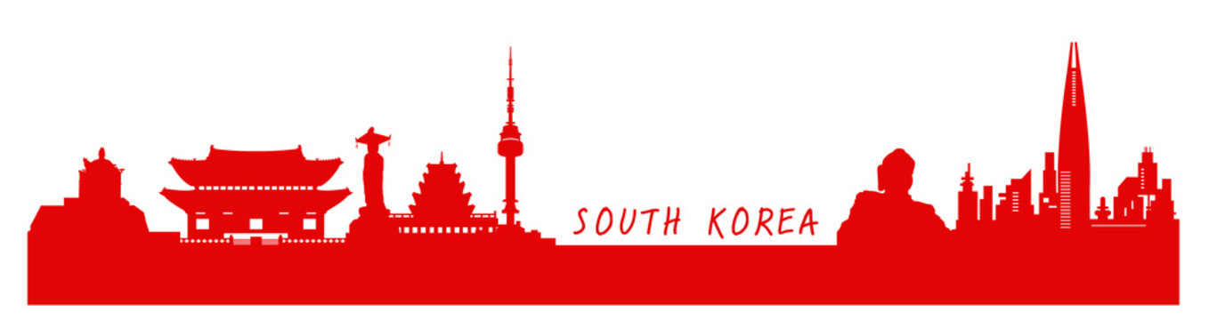 South Korea ,travel vector