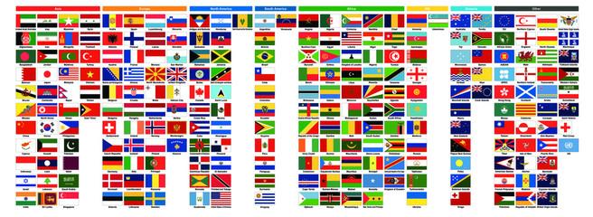 世界の国旗 | World flags Fotoväggar