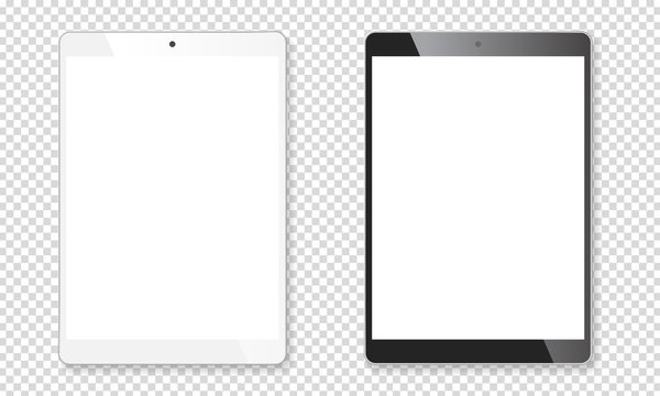 Realistic tablet mockup set