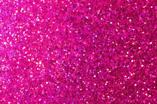 Macro abstract background of beautiful rose color glitter texture