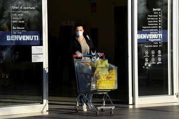 Day two of Italy's nationwide coronavirus lockdown, in Pioltello, near Milan