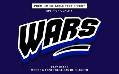Wall Mural - Wars text effect