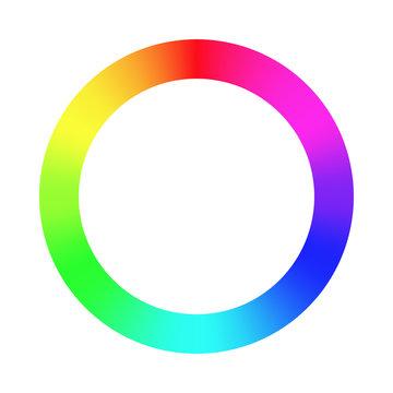Color wheel palette. RGB, RYB, CYMK system. Color harmony. Vector Illustration.