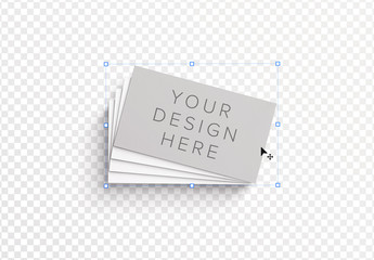 Fan Stack of Business Cards Mockup