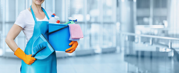 Obraz The concept of cleaning services. - fototapety do salonu
