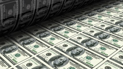 money printing process concept illustration