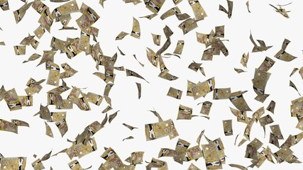 money bills 3d illustration isolated on white