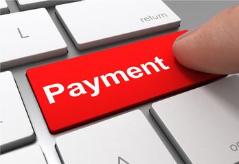 payment push button concept 3d illustration
