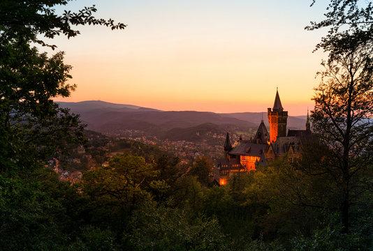 Schloss und Blick auf Wernigerode