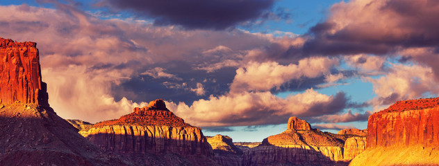 Fotorollo Aubergine lila American landscapes