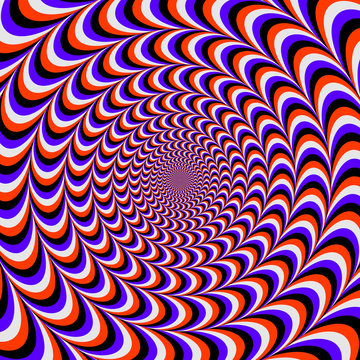 rounded color optical illusion. wzves design