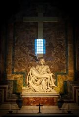 Michelangelo's Pietà at St. Peter's Basilica, Vatican City, Rome