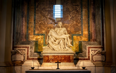 Pietà by Michelangelo at St. Peter's Basilica, Vatican City, Rome