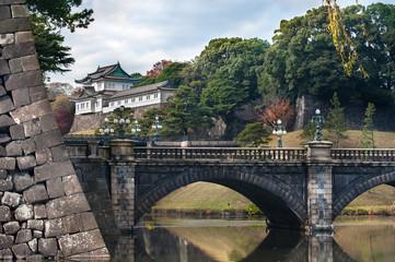 Nijubashi Bridge (Double Bridge) at the Imperial Palace, Tokyo, Japan