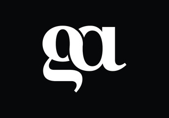 Fototapeta G A, GA Initial Letter Logo design vector template, Graphic Alphabet Symbol for Corporate Business Identity obraz