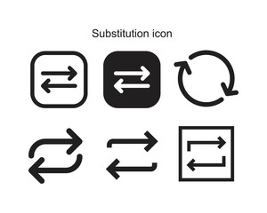 Fototapeta Substitution icon template black color editable. Substitution icon symbol Flat vector illustration for graphic and web design. obraz