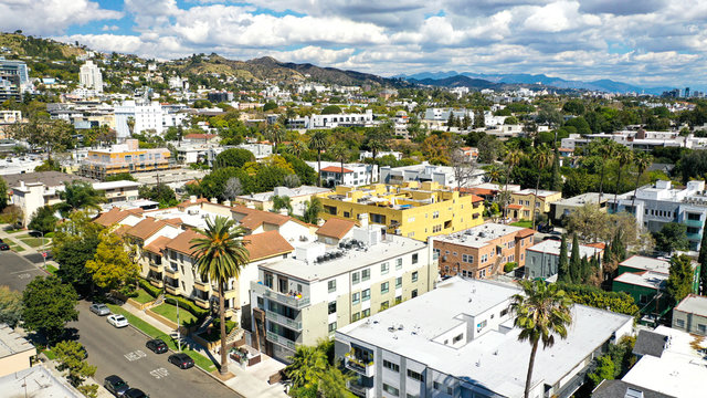 Aerial Photography of West Hollywood, Los Angeles, California