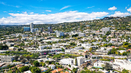 Aerial Photography of West Hollywood, Los Angeles, California Fototapete