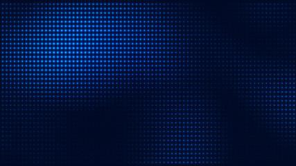 Dot blue pattern screen led light gradient texture background. Abstract  technology big data digital background. 3d rendering. Wall mural