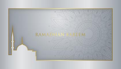 Ramadan Kareem Elegant design and luxury islamic background