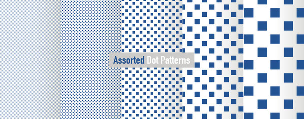 Assorted Square Dot Patterns