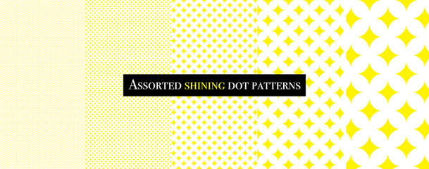 Assorted shining dot patterns