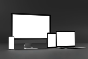Mock up of device - 3d rendering Wall mural