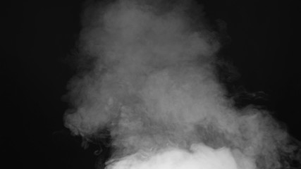Garden Poster Smoke smoke , vapor , fog - realistic smoke cloud best for using in composition, 4k, use screen mode for blending, ice smoke cloud, fire smoke, ascending vapor steam over black background - floating fog