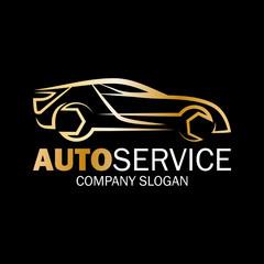 Fototapeta Naprawa samochodów logo wektor. obraz