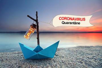Stores à enrouleur Inde Coronavirus Quarantäne Kreuzfahrt
