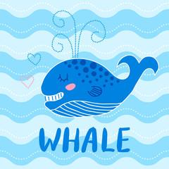 Cute baby whale