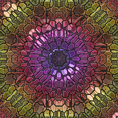 3d effect - abstract mosaic style graphic