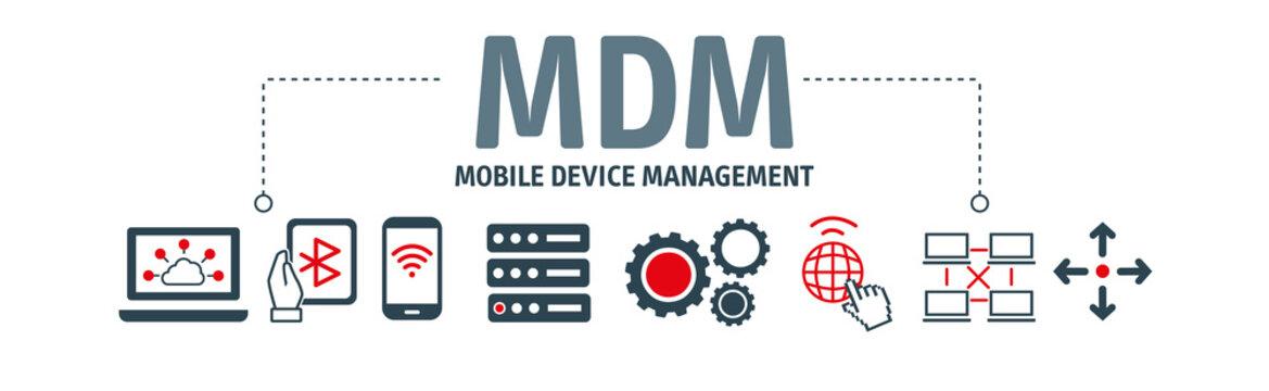 Mobile Device Management vector illustration concept