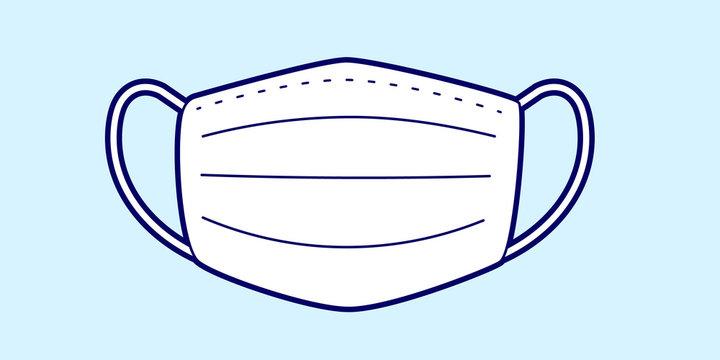 Vector illustration of medical mask