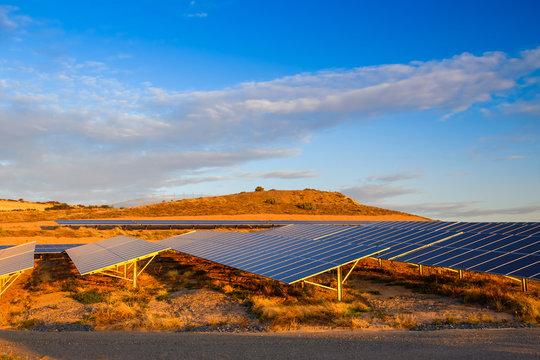 Solar panel farm in South Australia