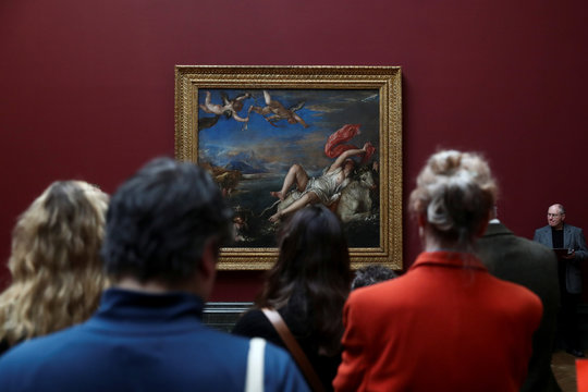 Titian: Love Desire Death media preview at the National Gallery in London