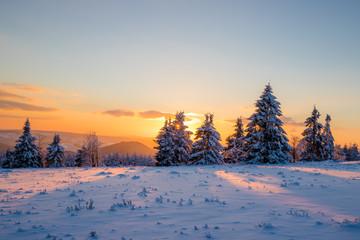 Sonnenuntergang auf dem Kahlen Asten