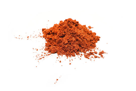 Copper powder isolated on white background