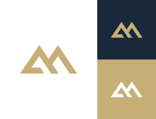 AM. Monogram of Two letters A&M. Luxury, simple, minimal and elegant AM logo design. Vector illustration template.