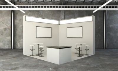 rounded exhibition booth 3d rendering Wall mural