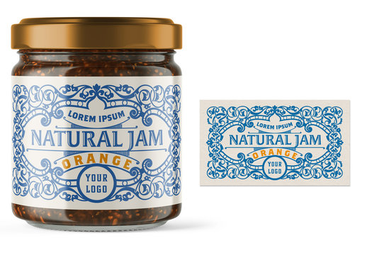 Vintage-Style Jam Label Layout