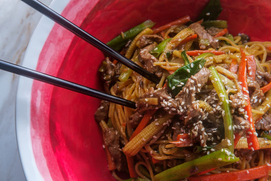 House Special Beef Lo Mein