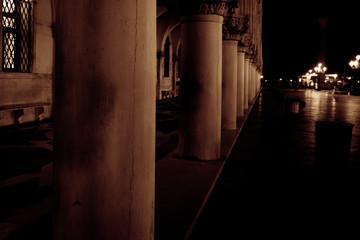 Canvas Prints Narrow alley narrow street at night - Venice - Italy