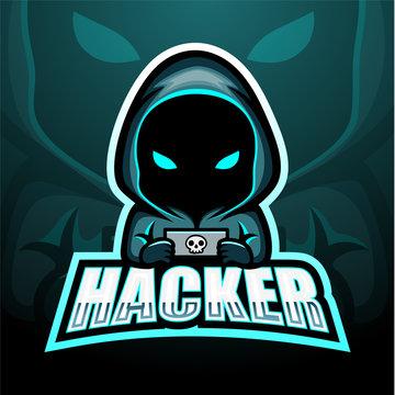 Hacker mascot esport logo design