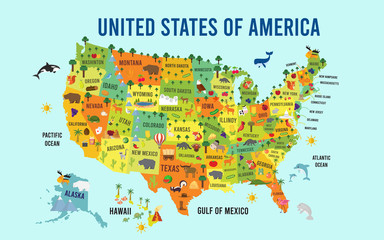 Vector Illustration United States of America flat design