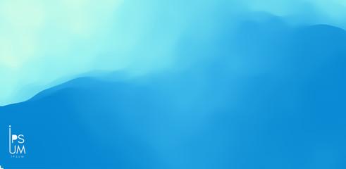 Foto auf Gartenposter Abstrakte Welle Water surface. Blue abstract background. Vector illustration for design.